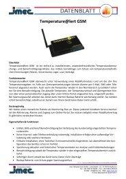 Temperature@lert GSM - imec Messtechnik GmbH