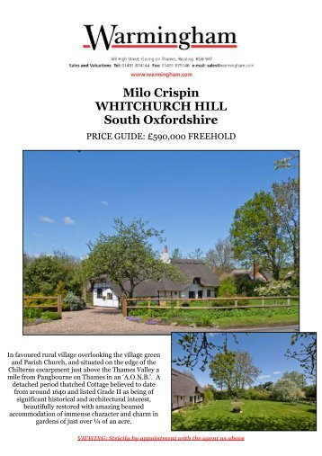 Milo Crispin WHITCHURCH HILL South Oxfordshire - Warmingham