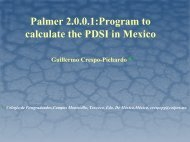 Palmer 2.0.0.1: Program to calculate the PDSI in Mexico - National ...