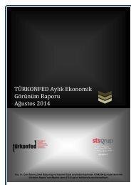 TURKONFED Aylik Ekonomik Gorunum Raporu Agustos 2014