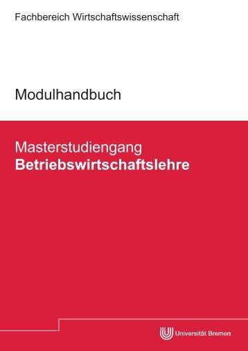 Modulhandbuch_BWL_MSc_WS 12_13.pdf - Fachbereich ...
