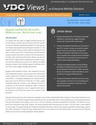 Views on Enterprise Mobility Solutions - VDC Research