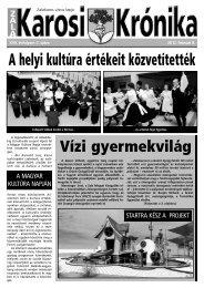 A helyi kultúra értékeit közvetítették - Zalakaros