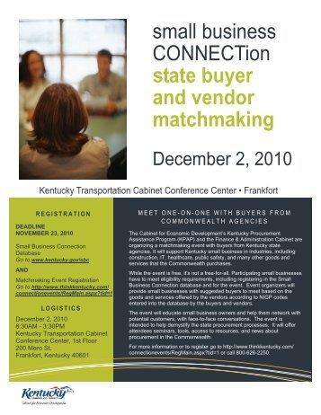 small business CONNECTion state buyer and vendor matchmaking