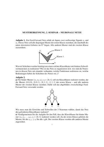 MUSTERERKENNUNG, 2. SEMINAR – NEURONALE NETZE ...