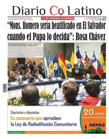 Edición 07 de Noviembre de 2014