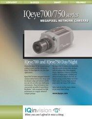 IQeye 700 series megapixel IP cameras (PDF 172k). - Network ...