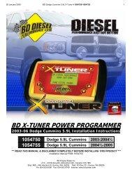 Dodge Cummins X-Tuner - Xtreme Diesel Performance