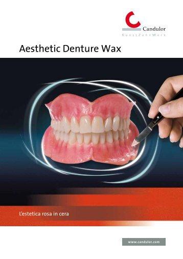 Brochure Aesthetic Denture Wax - Candulor