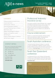 API eNews August 2008 - The Australian Property Institute