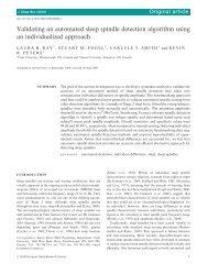 Validating an automated sleep spindle detection ... - PhiTools