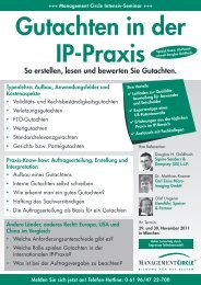 Seminar: Gutachten in der Ip-Praxis - Management Circle AG