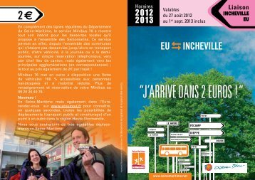 Ligne Incheville/Eu - Département de Seine-Maritime