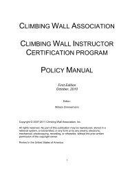 Certification Program Policy Manual - Climbing Wall Association