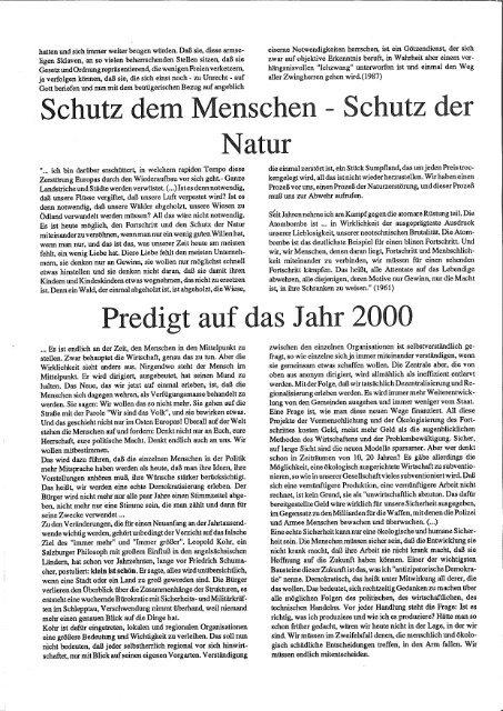 """Zur PDF Ausgabe der """"arche nova"""" - Leopold Kohr Akademie"""