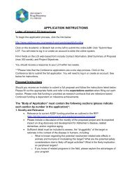application instructions - Alzheimer's Drug Discovery Foundation