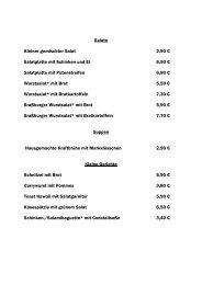 Salate Kleiner gemischter Salat 2,90 € Salatplatte mit ... - 1. SV Mörsch