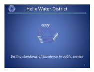 Setting standards of excellence in public service - Helix Water District