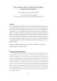 Can Contracts Solve the Hold-Up Problem? Experimental Evidence