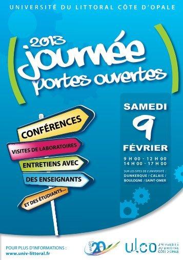 Plaquette Journée Portes Ouvertes - Université du Littoral-Côte-d ...