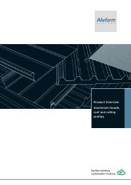 Product Overview Aluminium facade, roof and ceiling profiles