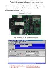 Renault PIN Code reading and Key programming