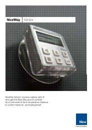 NiceWay Sensor - Nice SpA