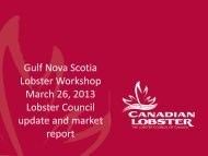 Gulf Nova Scotia Lobster Workshop March 26, 2013 Lobster Council ...