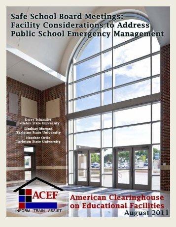 Safe School Board Meetings: Focusing on Facilities