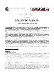 PIER PAOLO PASOLINI - Sito Istituzionale del Comune di Paderno ...