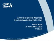 Annual General Meeting - HFA Holdings Limited