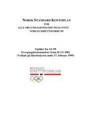 NORSK STANDARD KONTOPLAN - Norges idrettsforbund