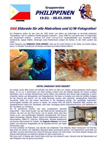 Gruppenreise PHILIPPINEN 19.02. - 08.03.2009 - Ivan`s Dive Team