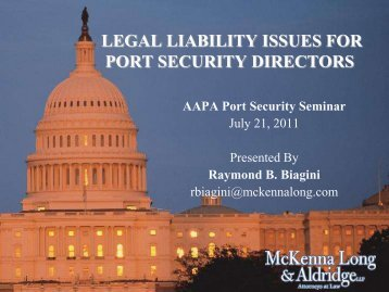 legal liability issues for port security directors - staging.files.cms.plus ...