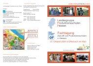 Flyer Fachtagung 27.10.2009 - Bundesverband Produktionsschulen
