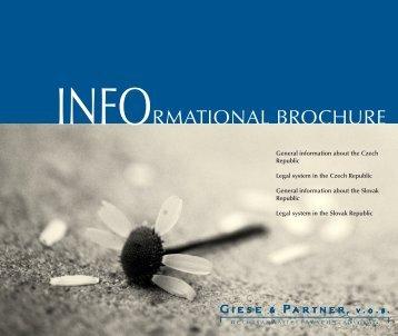 INFORMATIONAL BROCHURE - giese & partner