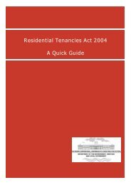 Residential Tenancies Act 2004 A Quick Guide - Department of ...