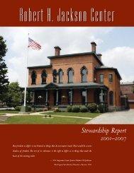 Stewardship Report - Robert H. Jackson Center
