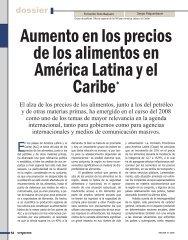Aumento en los precios de los alimentos en América Latina y el ...