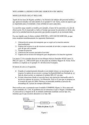 NOTA SOBRE LA RESOLUCIÓN DEL EJERCICIO 6 DE ARENA