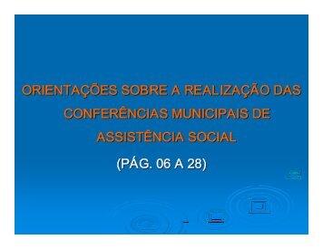 orientações sobre a realização das conferências municipais de ...