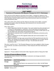 Fact Sheet - Summary of Pneumonia Measure Changes for 4/1/11 + ...