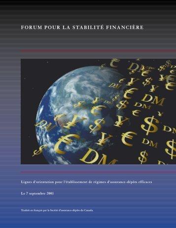 forum pour la stabilité financière - International Association of ...