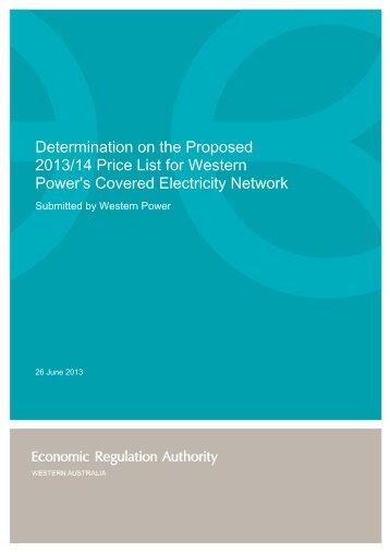 Determination - ERA Economic Regulation Authority of Western ...