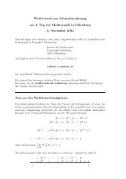 Wettbewerb - Tag der Mathematik - Universität Oldenburg