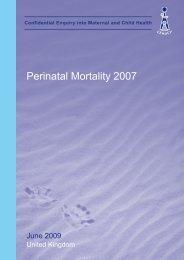 June 2009 - Perinatal Mortality 2007 - HQIP