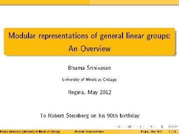 Modular representations of general linear groups: An Overview