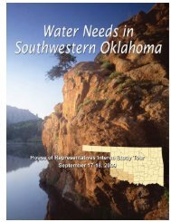 Water Needs in Southwestern Oklahoma - Water Resources Board ...