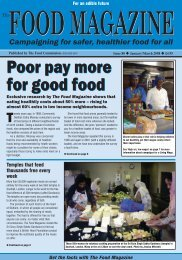 Poor pay more for good food Poor pay more for good food