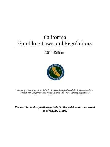 California Online Gambling Laws